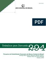 Pesquisa de Estabilidade Financiera Do BCB