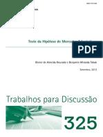 Teste Da Hipotese de Mercados Adaptativos Para o Brasil