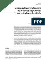 Processos de Aprendizagem de Músicos Populares Um Estudo Exploratório