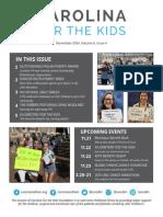 Carolina For the Kids November 2014 Newsletter