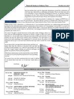 Santa Sophia Bulletin for October 26, 2014