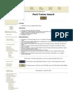 Pack Trainer Award