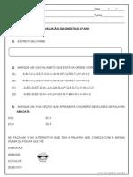 Avaliação Diagnóstica Português
