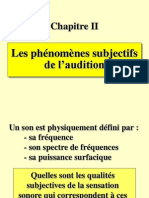audition 2 phénomènes subjectifs