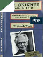 B. F. Skinner From a to Z - W. Joseph Wyatt (INDEX)