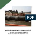 Informe de La Bocatoma Vinto y La Central Hidroelectrica