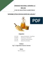Informe Aceite Ajonjolí Final Taller 2