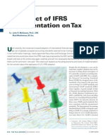 The Effect of IFRS Implement Ion of Tax