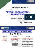 Diapositivas Nº 1-Revisión y Reajuste Del Plan de Tesis