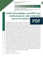 Análise de Hemoglobina s Por Hplc Para Estebelecimento de Valores Referenciais