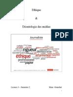 Ethique Et Déontologie Des Médias