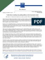 CDC Press Release_Nov 2014_Youth Tobacco Use