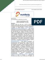 Ouvidoria - MPF 91759 - Encaminhamento ADPFs Ao Procurador-Geral Da República