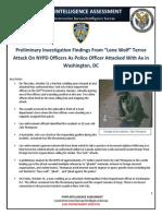 NYPD Intelligence Assessment - Hatchet-Wielding Jihadi