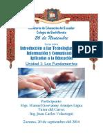 Deber Unidad 1 Tics 1 Online Mgs. Manuel Geovanny Armijos Ligua