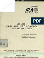 Manual Para El Analisis en Laboratorio Del Cacao