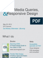 CSS3 Media Queries Responsive Design STC Summit 120523