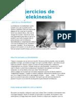 Ejercicios de Telekinesis