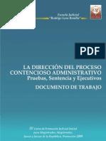 Dirección Del Proceso Contencioso Admnistrativo, Pruebas, Sentencias y Ejecutivos, Escuela Judicial RLB