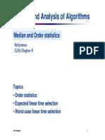 08 Medians and Order Statistics