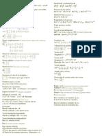 Formulario Algebra Lineal I