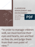edu 340 classroom management and environment rose wagner