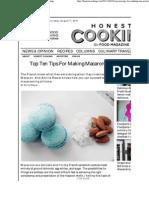 10 Macaron Making Tips