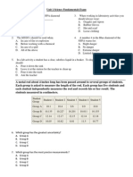 Science Fundamentals Exam