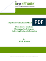 BeyeNetwork Open Source Research Report