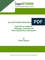 BeyeNetwork Open Source Research Report