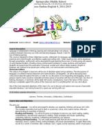 collinson english 9 course outline 2014