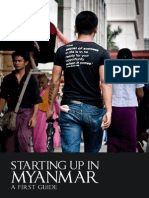 """Starting Up in Myanmar - A First Guide"" (by Harald Friedl/Ruben D'Hauwers)"