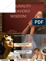 4th Quarter 2014 Lesson 8 the Humility of Heavenly Wisdom