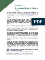Perils of the Internal Rate of Return