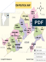 Arunachal Pradesh Political Map