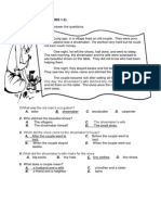 English Passages- ANSWERS
