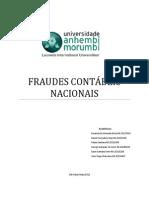 Trabalho De Contabilidade - Fraudes contabeis nacionais