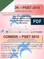 COMED-K PGET 2015 Entrance Exam Dates|Private Medical Colleges