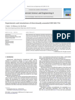 Experiments and Simulations of Directionally Annealed ODS MA 754