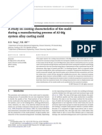 A Study on Cooling Characteristics of Tire Mold