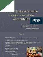 Efectul Tratarii Termice Asupra Inocuitatii Alimentelor