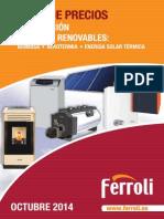 Tarifa Ferroli Calefaccion Energia Solar 2014