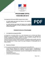 Becas de excelencia Eiffel 2015-2016