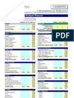 Personal Monthly Budget Planner