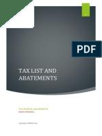 Tax Rates Abatements Final