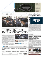 Asbury Park Press front page Wednesday, Nov. 18 2014