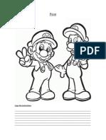 Colours Mario. english worksheet