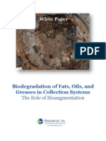 Biodegradation of Fats, Oils, and Greases in Collection Systems - The Role of Bioaugmentation