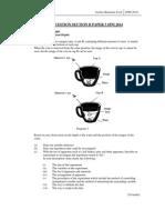 Spot Question Section b Paper 3 Spm 2014