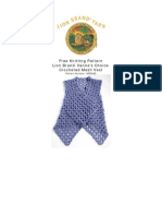 90550AD Crocheted Mesh Vest